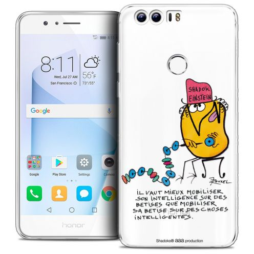 "Coque Gel Huawei Honor 8 (5.2"") Extra Fine Les Shadoks® - Einstein"
