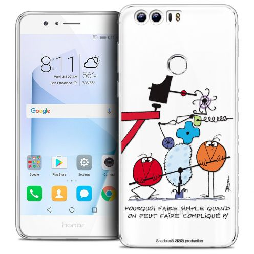 "Coque Gel Huawei Honor 8 (5.2"") Extra Fine Les Shadoks® - Pourquoi faire Simple"