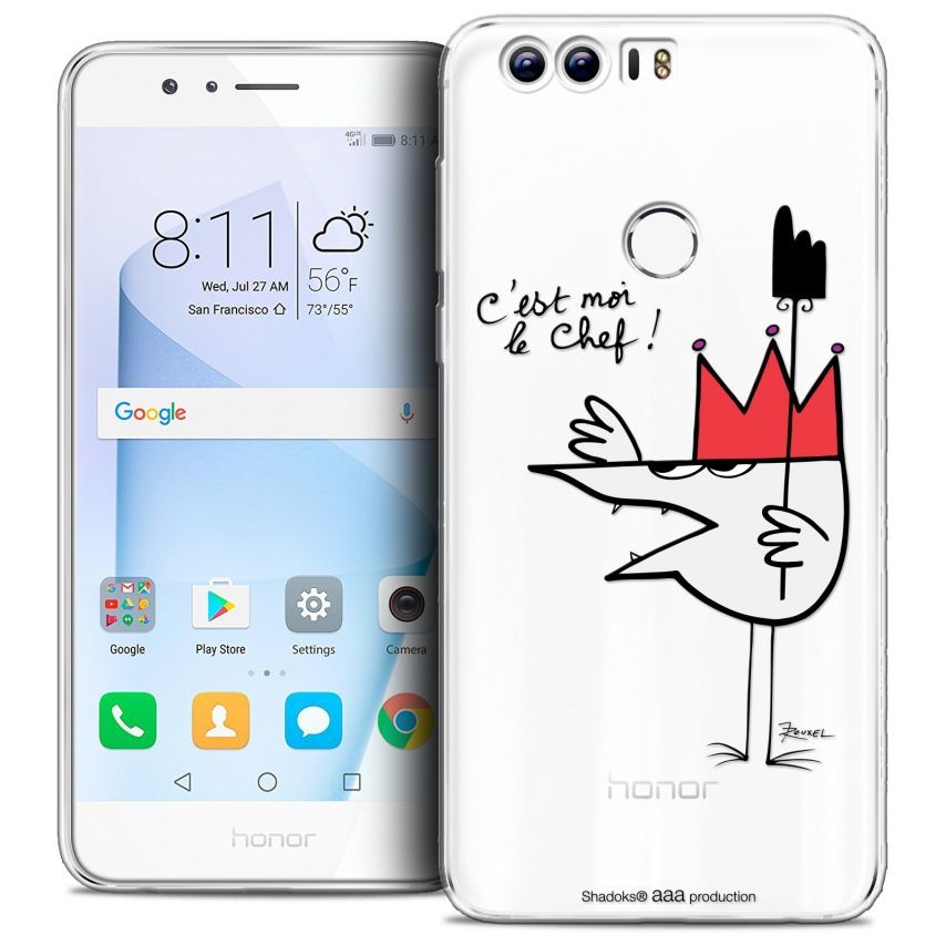 """Coque Gel Huawei Honor 8 (5.2"""") Extra Fine Les Shadoks® - Le Chef"""