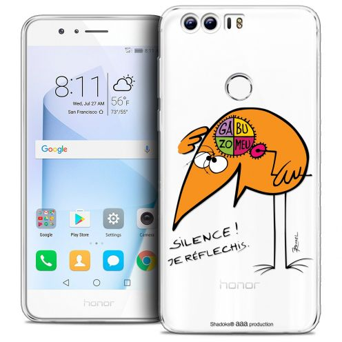"Coque Gel Huawei Honor 8 (5.2"") Extra Fine Les Shadoks® - Silence !"