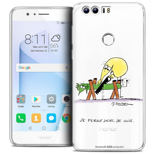 """Coque Gel Huawei Honor 8 (5.2"""") Extra Fine Les Shadoks® - Je pense Donc"""
