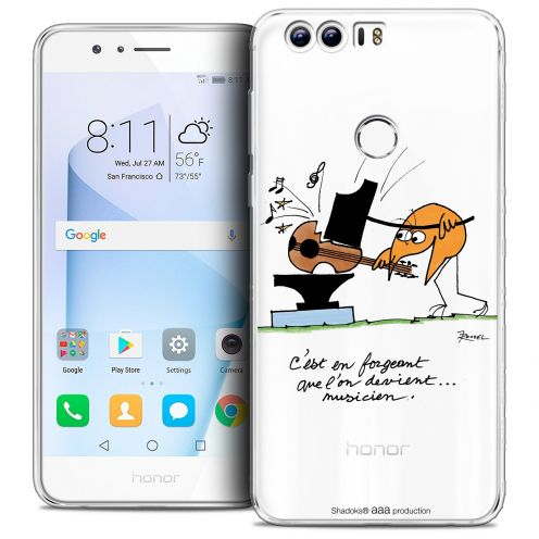 """Coque Gel Huawei Honor 8 (5.2"""") Extra Fine Les Shadoks® - Musicien"""