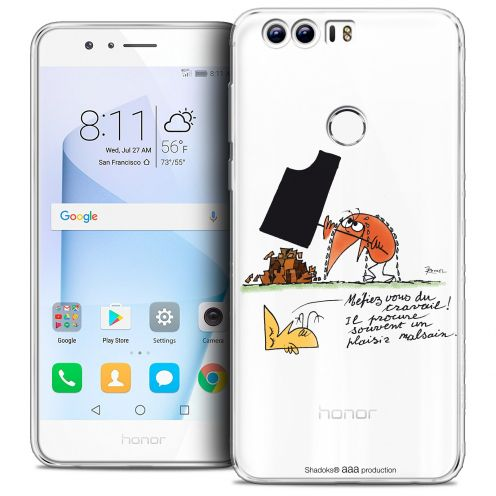"Coque Gel Huawei Honor 8 (5.2"") Extra Fine Les Shadoks® - Le Travail"