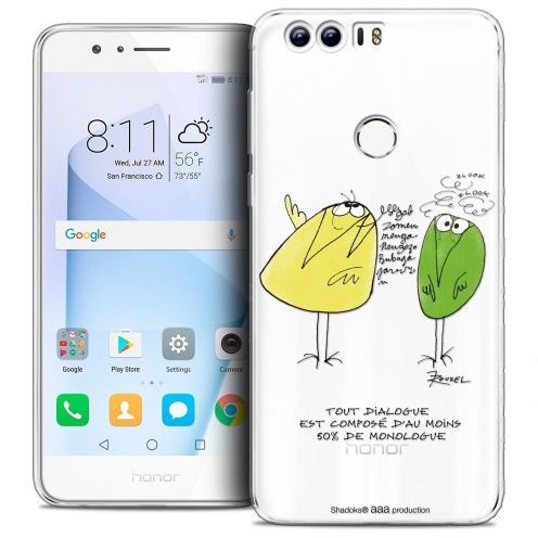 "Coque Gel Huawei Honor 8 (5.2"") Extra Fine Les Shadoks® - Le Dialogue"