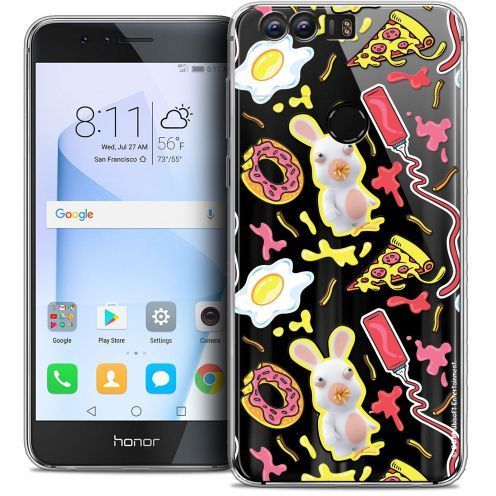 "Coque Gel Huawei Honor 8 (5.2"") Extra Fine Lapins Crétins™ - Egg Pattern"
