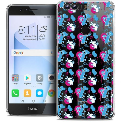 """Coque Gel Huawei Honor 8 (5.2"""") Extra Fine Lapins Crétins™ - Rugby Pattern"""