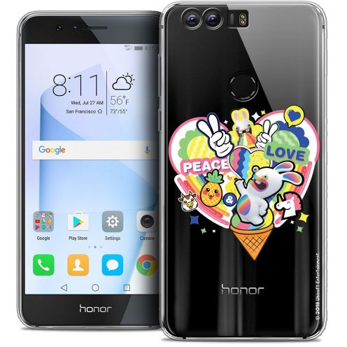"Coque Gel Huawei Honor 8 (5.2"") Extra Fine Lapins Crétins™ - Peace And Love"
