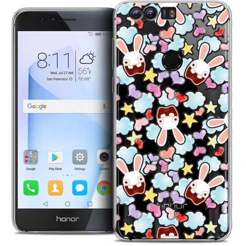 "Coque Gel Huawei Honor 8 (5.2"") Extra Fine Lapins Crétins™ - Love Pattern"