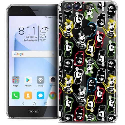 """Coque Gel Huawei Honor 8 (5.2"""") Extra Fine Lapins Crétins™ - Punk Pattern"""