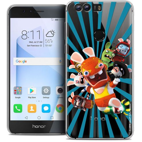 """Coque Gel Huawei Honor 8 (5.2"""") Extra Fine Lapins Crétins™ - Super Heros"""