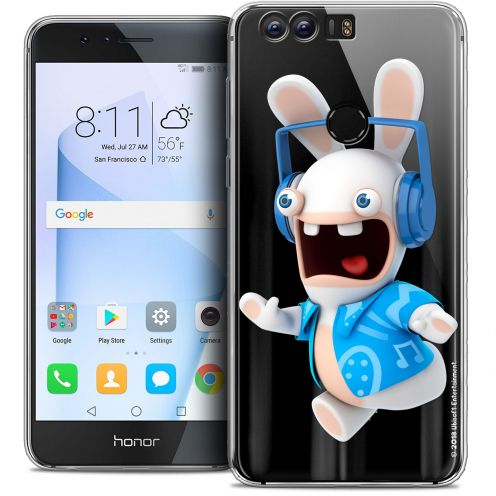 """Coque Gel Huawei Honor 8 (5.2"""") Extra Fine Lapins Crétins™ - Techno Lapin"""