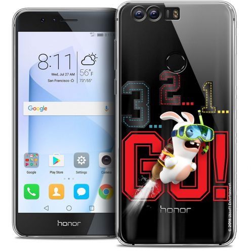 """Coque Gel Huawei Honor 8 (5.2"""") Extra Fine Lapins Crétins™ - 321 Go !"""