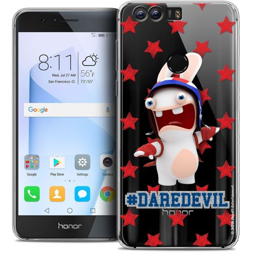 "Coque Gel Huawei Honor 8 (5.2"") Extra Fine Lapins Crétins™ - Dare Devil"