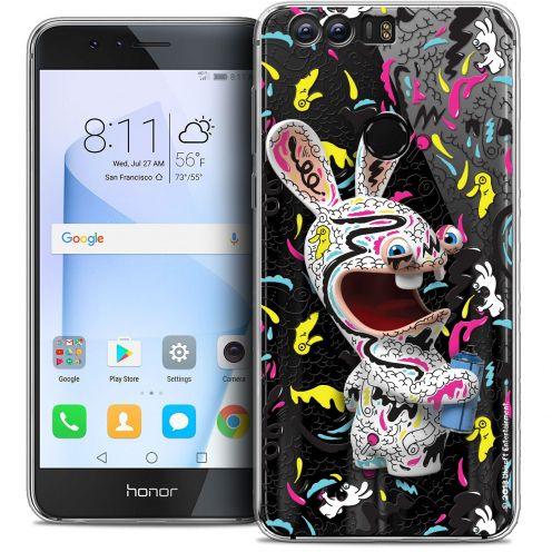 """Coque Gel Huawei Honor 8 (5.2"""") Extra Fine Lapins Crétins™ - Tag"""