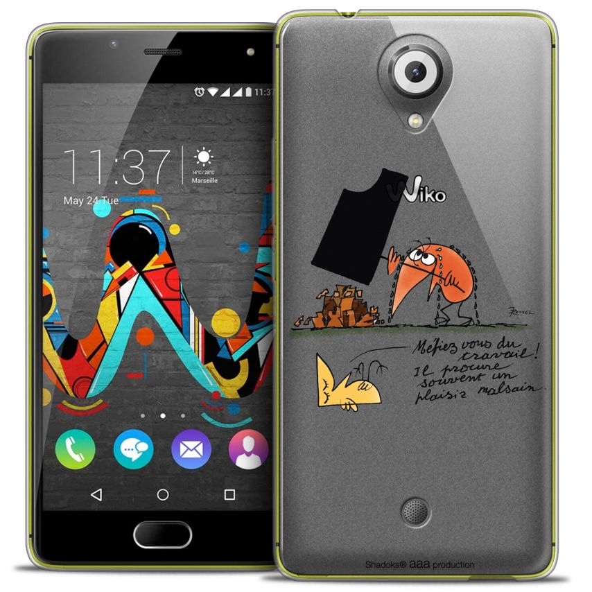 Coque Gel Wiko U Feel Extra Fine Les Shadoks® - Le Travail