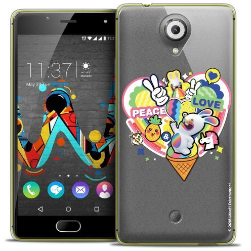 Coque Gel Wiko U Feel Extra Fine Lapins Crétins™ - Peace And Love