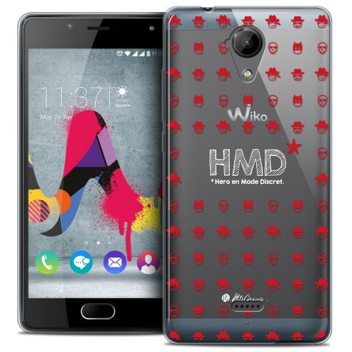 Coque Gel Wiko U Feel LITE Extra Fine Petits Grains® - HMD* Hero en Mode Discret