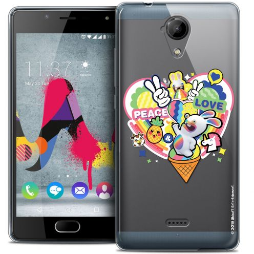 Coque Gel Wiko U Feel LITE Extra Fine Lapins Crétins™ - Peace And Love