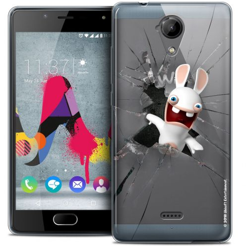 Coque Gel Wiko U Feel LITE Extra Fine Lapins Crétins™ - Breaking Glass