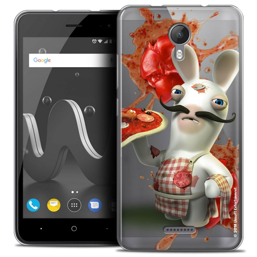"""Coque Gel Wiko Jerry 2 (5"""") Extra Fine Lapins Crétins™ - Cuisinier"""