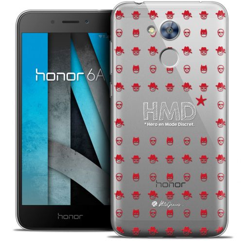 "Coque Gel Huawei Honor 6A (5"") Extra Fine Petits Grains® - HMD* Hero en Mode Discret"