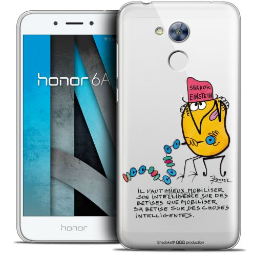 "Coque Gel Huawei Honor 6A (5"") Extra Fine Les Shadoks® - Einstein"