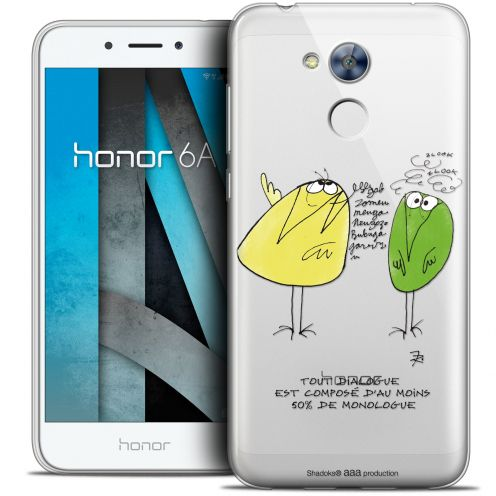 "Coque Gel Huawei Honor 6A (5"") Extra Fine Les Shadoks® - Le Dialogue"