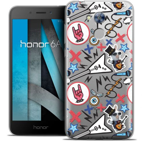 "Coque Gel Huawei Honor 6A (5"") Extra Fine Lapins Crétins™ - Rock Pattern"
