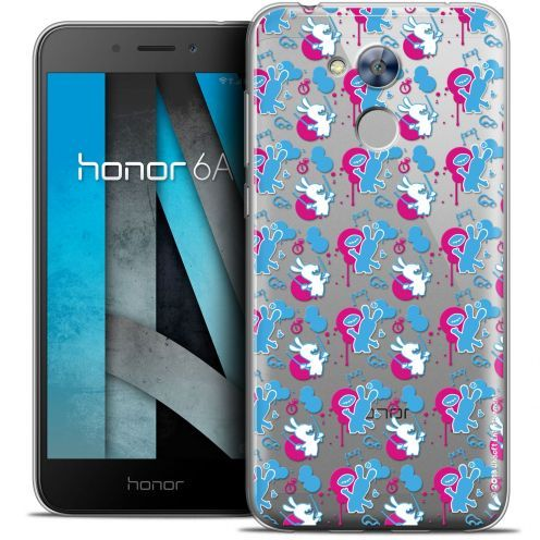 """Coque Gel Huawei Honor 6A (5"""") Extra Fine Lapins Crétins™ - Rugby Pattern"""