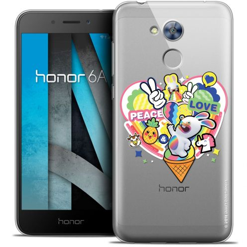 "Coque Gel Huawei Honor 6A (5"") Extra Fine Lapins Crétins™ - Peace And Love"