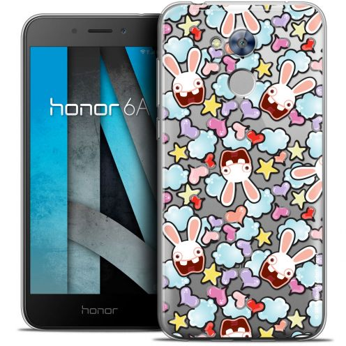 "Coque Gel Huawei Honor 6A (5"") Extra Fine Lapins Crétins™ - Love Pattern"