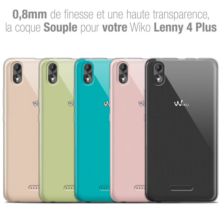 "Coque Wiko Lenny 4 PLUS (5.5"") Extra Fine Souple Crystal Clear"