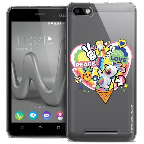 Coque Gel Wiko Lenny 3 Extra Fine Lapins Crétins™ - Peace And Love