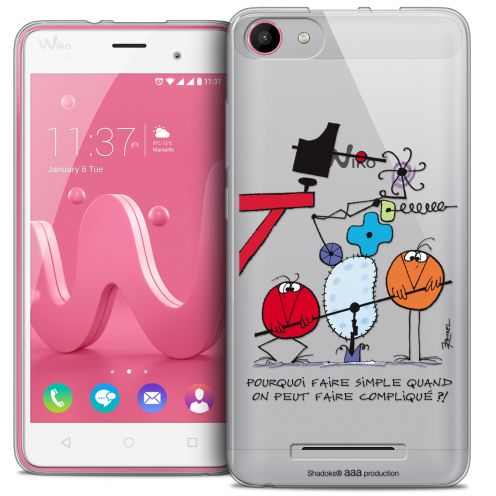 Coque Gel Wiko Jerry Extra Fine Les Shadoks® - Pourquoi faire Simple
