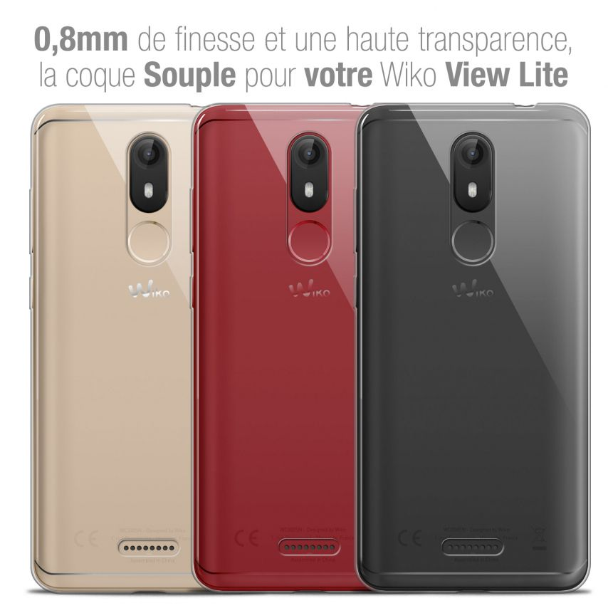 "Coque Wiko View LITE (5.45"") Extra Fine Souple Crystal Clear"