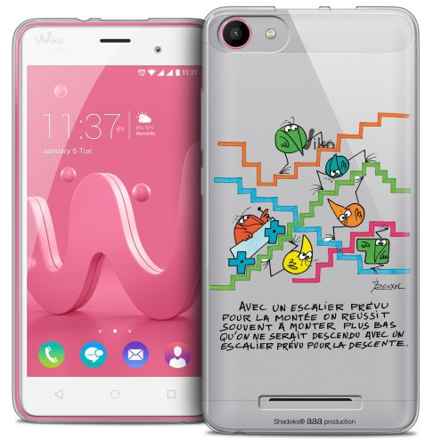 Coque Gel Wiko Jerry Extra Fine Les Shadoks® - L'escalier