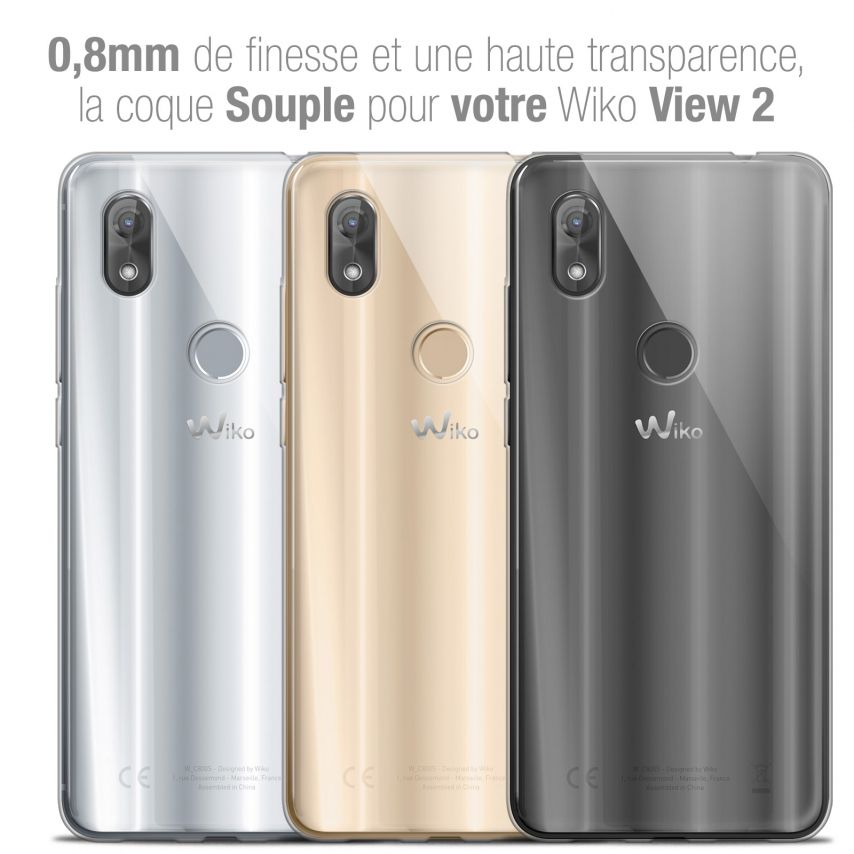 "Coque Wiko View 2 (6.0"") Extra Fine Souple Crystal Clear"