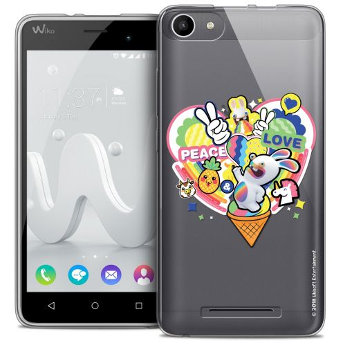 Coque Gel Wiko Jerry Extra Fine Lapins Crétins™ - Peace And Love