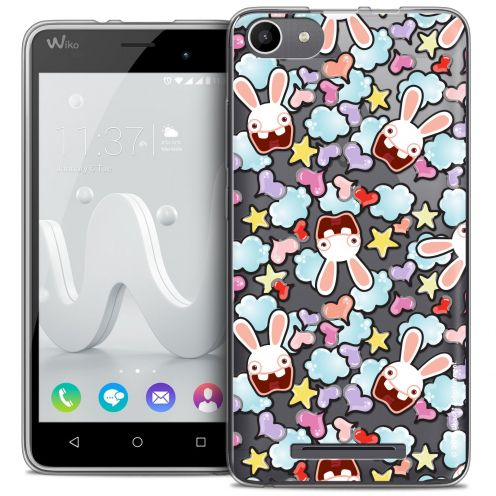 Coque Gel Wiko Jerry Extra Fine Lapins Crétins™ - Love Pattern