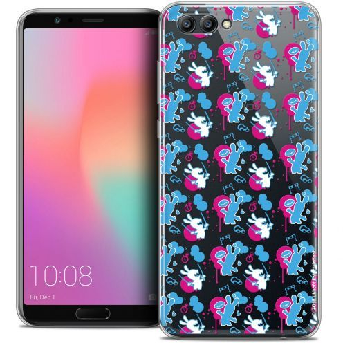 "Coque Gel Honor View 10 / V10 (6"") Extra Fine Lapins Crétins™ - Rugby Pattern"