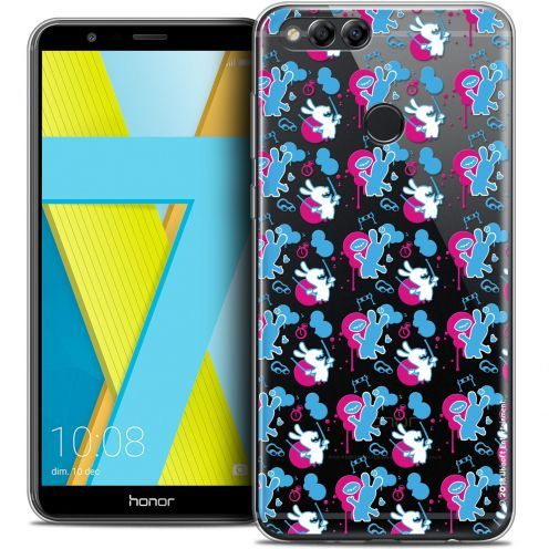 """Coque Gel Honor 7X (5.9"""") Extra Fine Lapins Crétins™ - Rugby Pattern"""