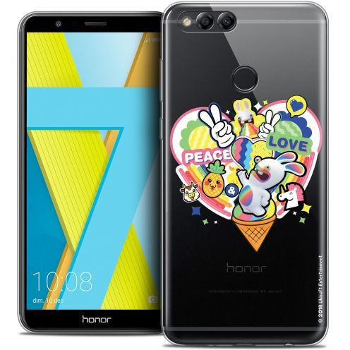 "Coque Gel Honor 7X (5.9"") Extra Fine Lapins Crétins™ - Peace And Love"