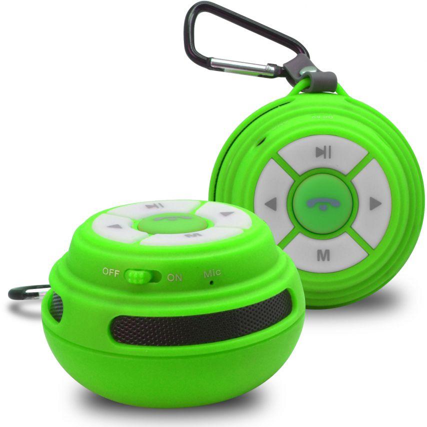 Vue Principale de Enceinte Bluetooth Ultimate SoundBall 3W USB/Micro SD/Jack & Mains libres verte