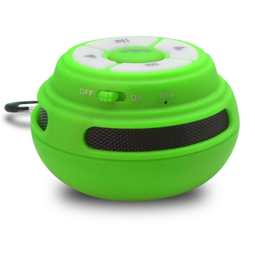 Visuel unique de Enceinte Bluetooth Ultimate SoundBall 3W USB/Micro SD/Jack & Mains libres verte