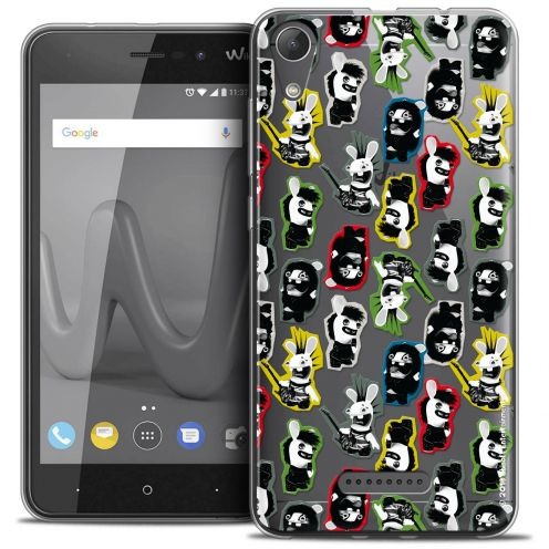 """Coque Gel Wiko Lenny 4 (5"""") Extra Fine Lapins Crétins™ - Punk Pattern"""
