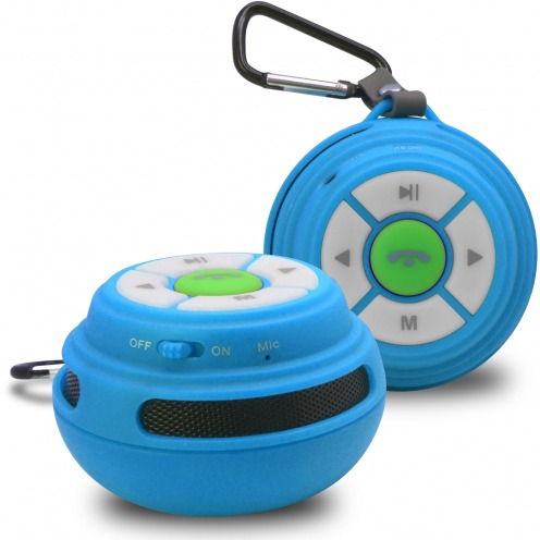 Vue Principale de Enceinte Bluetooth Ultimate SoundBall 3W USB/Micro SD/Jack & Mains libres bleue