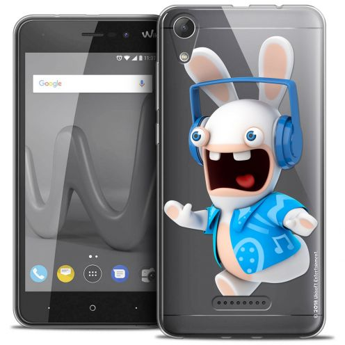 """Coque Gel Wiko Lenny 4 (5"""") Extra Fine Lapins Crétins™ - Techno Lapin"""