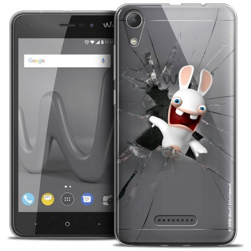 """Coque Gel Wiko Lenny 4 (5"""") Extra Fine Lapins Crétins™ - Breaking Glass"""
