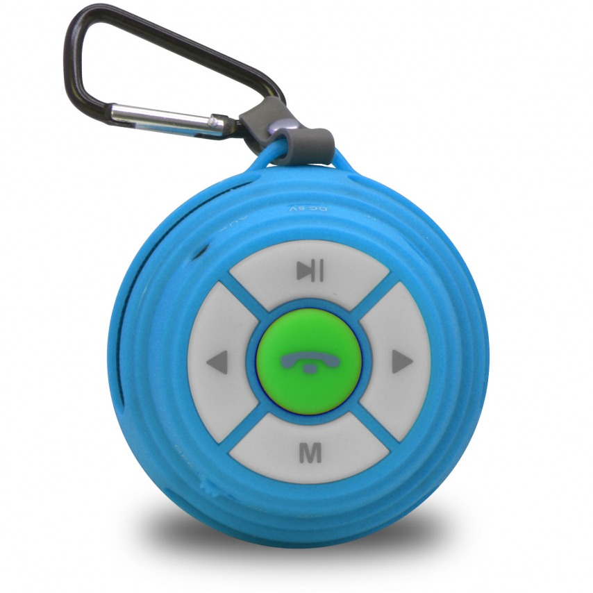 Zoom sur Enceinte Bluetooth Ultimate SoundBall 3W USB/Micro SD/Jack & Mains libres bleue