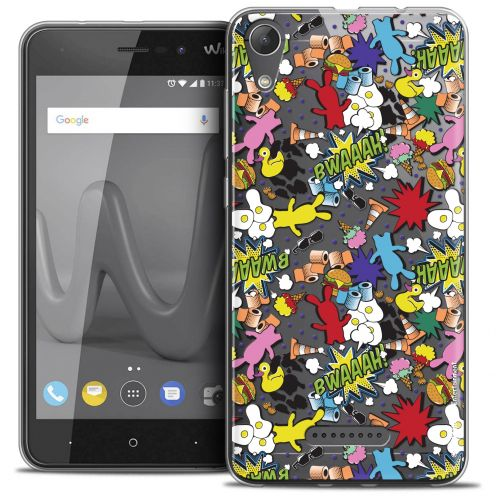 """Coque Gel Wiko Lenny 4 (5"""") Extra Fine Lapins Crétins™ - Bwaaah Pattern"""